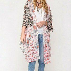 Gigio Umgee Duster Maxi Kimono Mixed Floral Boho